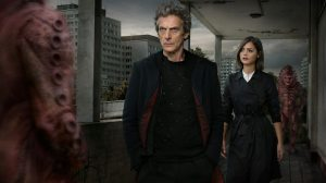 "The Doctor and Clara - BBC Promotion Image for ""The Zygon Invasion""."